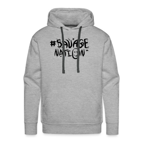 SAVAGE NATION classic black - Men's Premium Hoodie