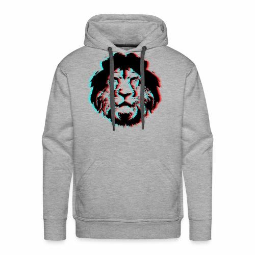 3D Lion Face - Men's Premium Hoodie
