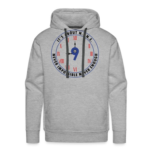 NINE Logo v2 2018 blue Outlines Red Numbers - Men's Premium Hoodie
