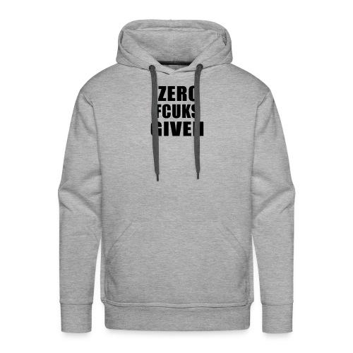 ZEROFUCKSGIVENBLACK - Men's Premium Hoodie