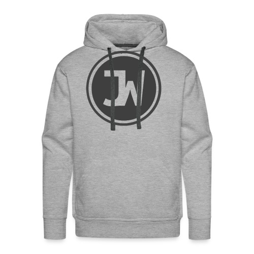Grey Johannes With Logo - Men's Premium Hoodie