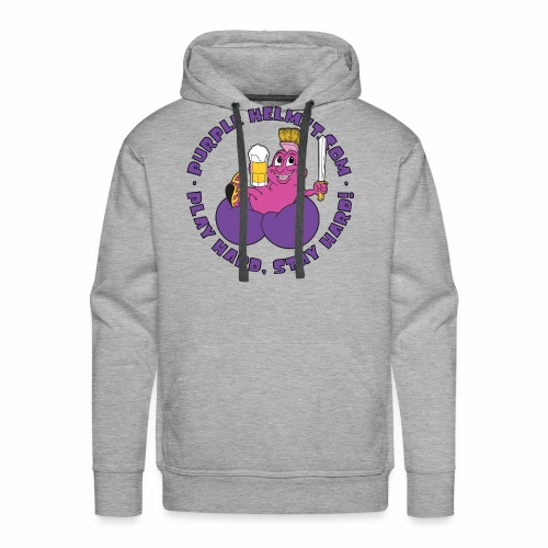Purple Helmet Bean Bag - Men's Premium Hoodie