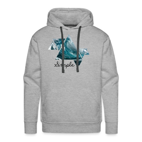 Wave logo(Simple) - Men's Premium Hoodie
