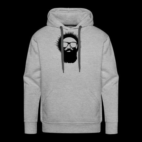 Wild Eskimo Basic Head Logo - Men's Premium Hoodie