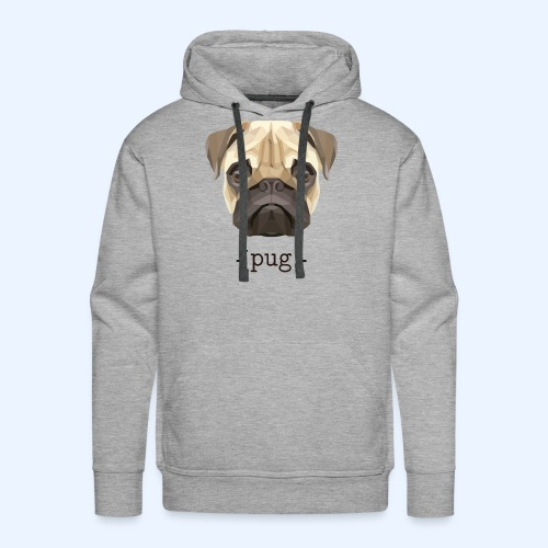 Cute Watercolor Pug Face Definition - Men's Premium Hoodie