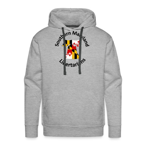 SOMD Libertarians Logo Outlined Bell No Shadow T - Men's Premium Hoodie