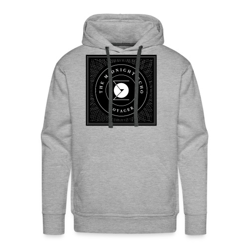 The Midnight Echo 'Voyager' - Logo - Black & White - Men's Premium Hoodie