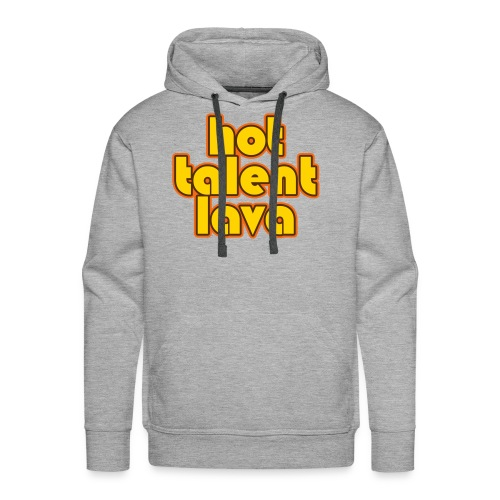 Hot Talent Lava - Yellow Letters - Men's Premium Hoodie