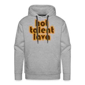 Hot Talent Lava - Brown Letters - Men's Premium Hoodie
