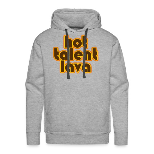 Hot Talent Lava - Brown Letters - Men's Premium Hoodie