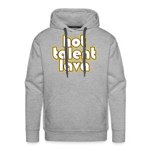 Hot Talent Lava - White Letters - Men's Premium Hoodie