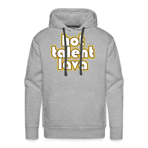 Hot Talent Lava - White Letters - Men's Premium Hoodie