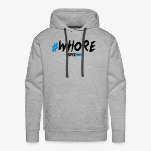 #whore white - Spizoo Hashtags - Men's Premium Hoodie