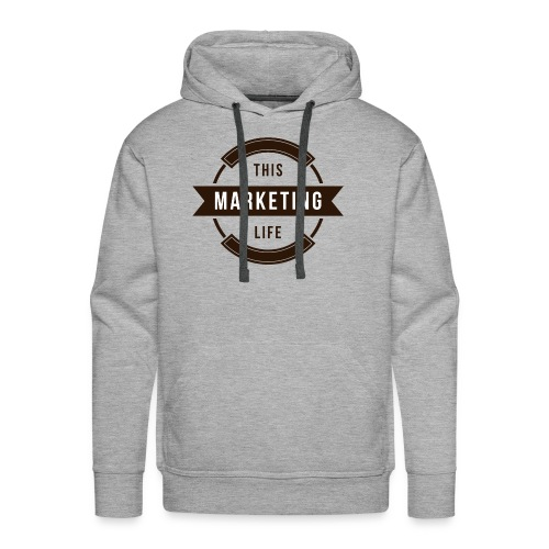 This Marketing Life Logo Brown - Men's Premium Hoodie