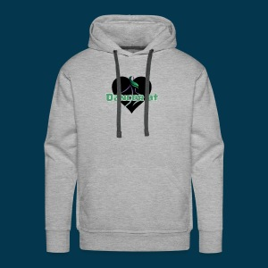 Dancer At Heart (Black Heart) - Men's Premium Hoodie