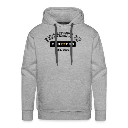 Property of Brazzers logo outline - Men's Premium Hoodie
