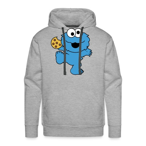 Dancing cookie monster mug - Men's Premium Hoodie
