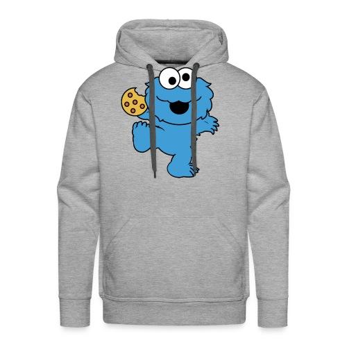 Dancing cookie monster mug - Men's Premium Hoodie