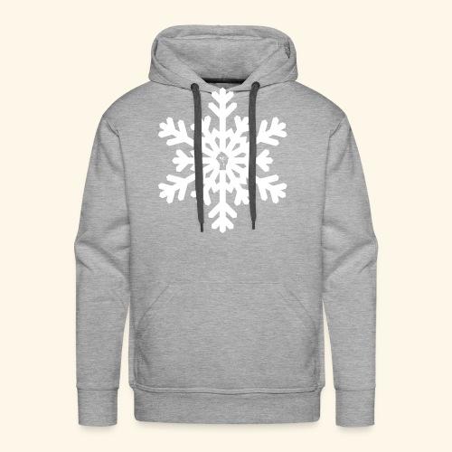 snowflake vector white - Men's Premium Hoodie