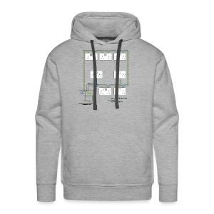 Electrical Circuit - Men's Premium Hoodie