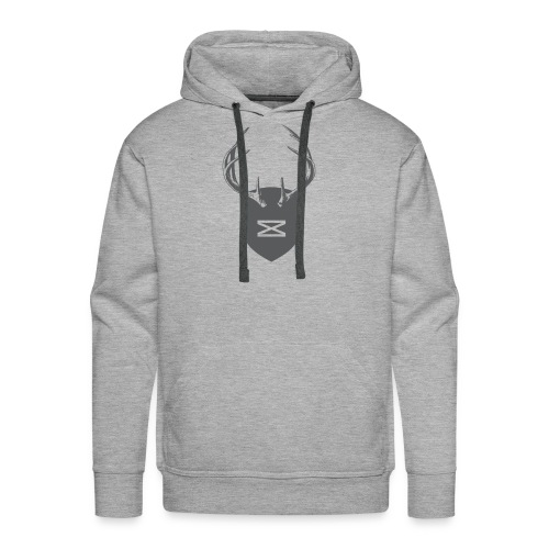 0218 mmch threadless shop stagshead gray - Men's Premium Hoodie