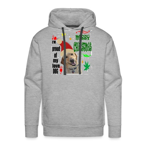 christmas with your dog - Men's Premium Hoodie
