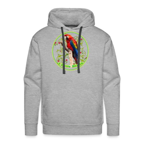 I Love Birds - Cool - Men's Premium Hoodie