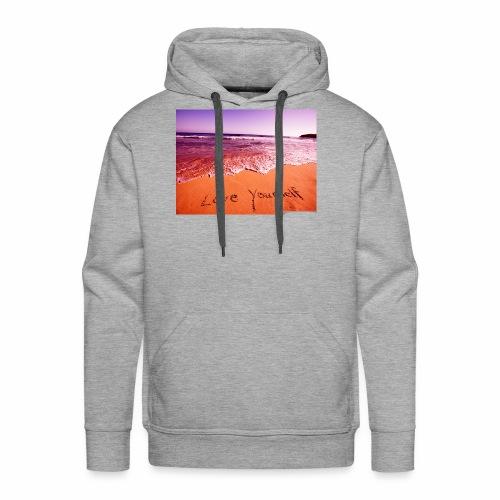 on beach love yourself wallpapers 1024x768 - Men's Premium Hoodie