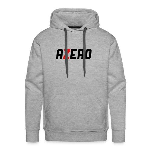 Azero Red & White Logo - Men's Premium Hoodie