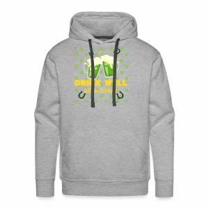 Drink well with other - Men's Premium Hoodie