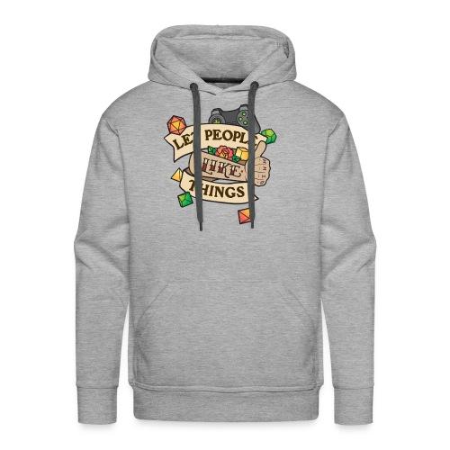 Let People Like Things - Color - Men's Premium Hoodie