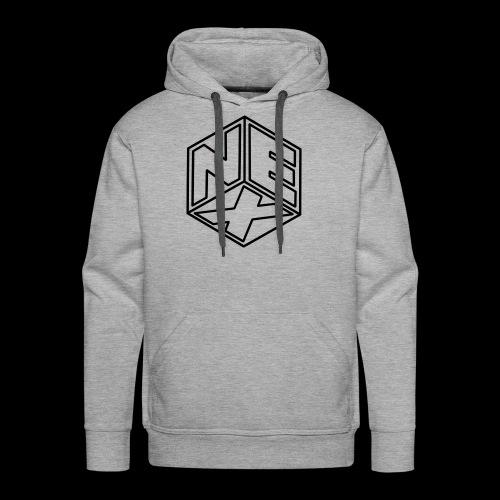Nexagonal Logo (White_ - Men's Premium Hoodie