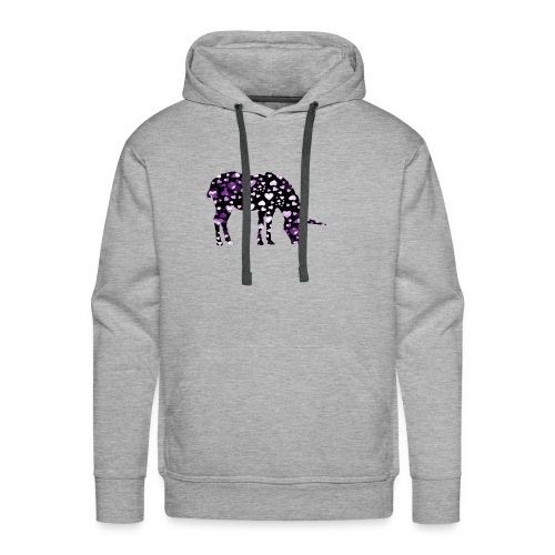 Unicorn Hearts purple - Men's Premium Hoodie