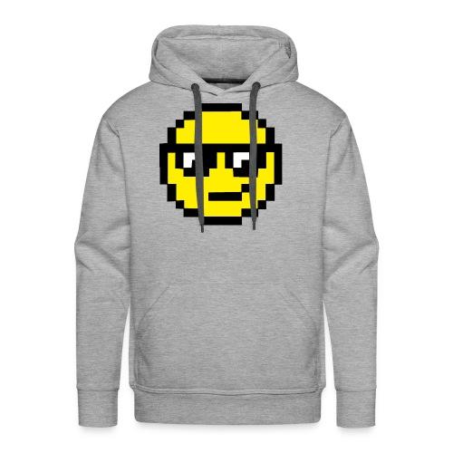 Pixel Smiley Yellow - Men's Premium Hoodie