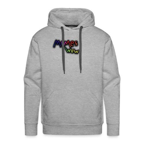 Memes Wow Logo - Men's Premium Hoodie