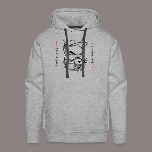 Mellow Mind (Black on White) - Men's Premium Hoodie