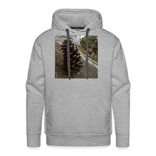 Pine Cone on Ledge - Men's Premium Hoodie