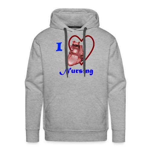 I Love Nursing - Men's Premium Hoodie