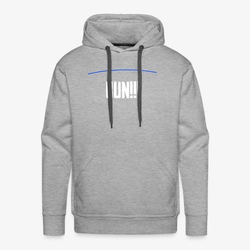 Run - The Blue Line Is Coming - PUBG Battlegrounds - Men's Premium Hoodie