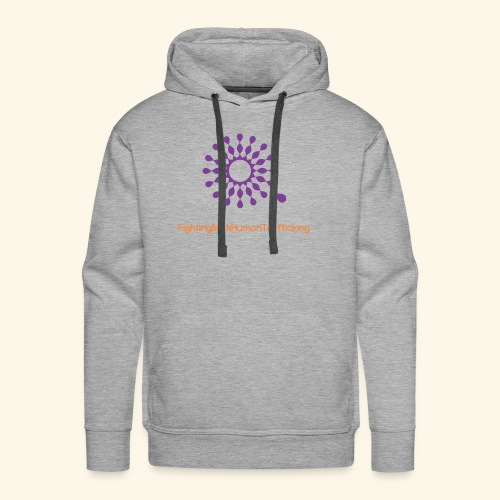 Fighting back human trafficking - Men's Premium Hoodie