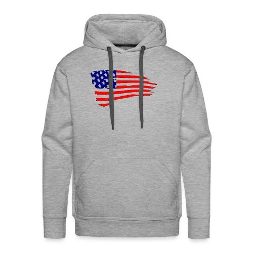 USFlagRed Blue - Men's Premium Hoodie