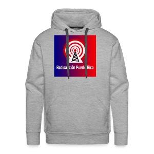 LOGO de radioaficionpr logoazulyrojo2 - Men's Premium Hoodie
