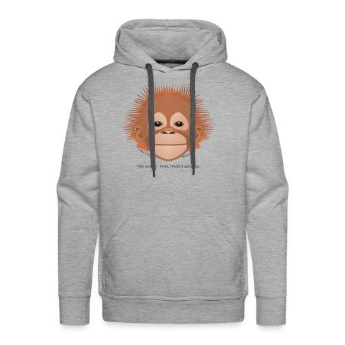 baby orangutan face - Men's Premium Hoodie