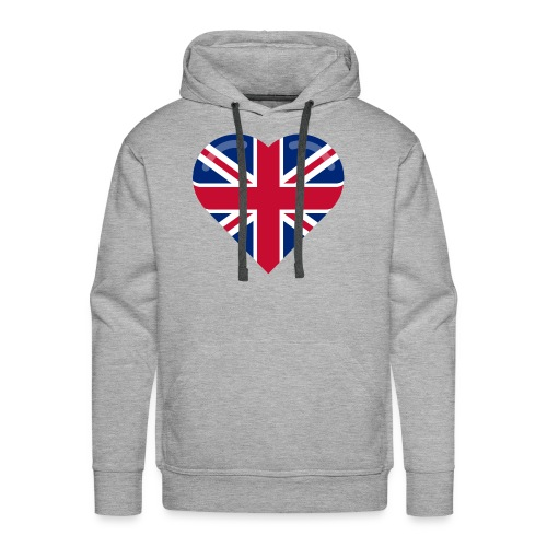 brit heart - Men's Premium Hoodie
