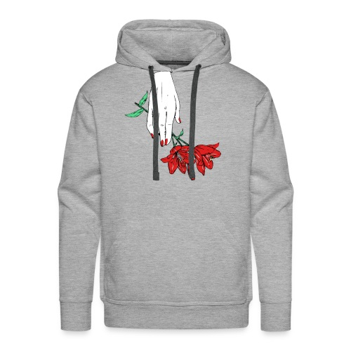 hand with two flowers - Men's Premium Hoodie