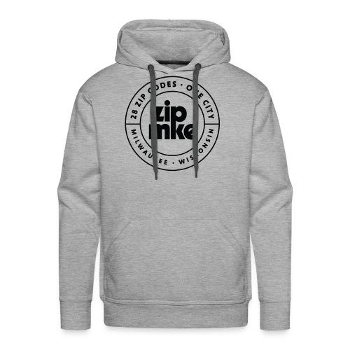 ZIP MKE full logo (black) - Men's Premium Hoodie