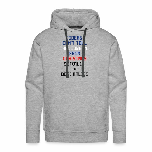 Coders Can't Tell Halloween From Christmas - Men's Premium Hoodie