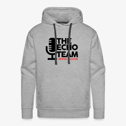 Echo Team Logo Black Letters - Men's Premium Hoodie