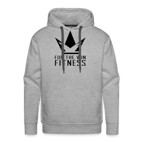 For the Win Fitness - Black - Men's Premium Hoodie
