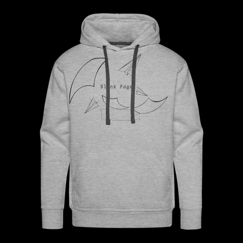 Blank Page Papers Flying - Men's Premium Hoodie